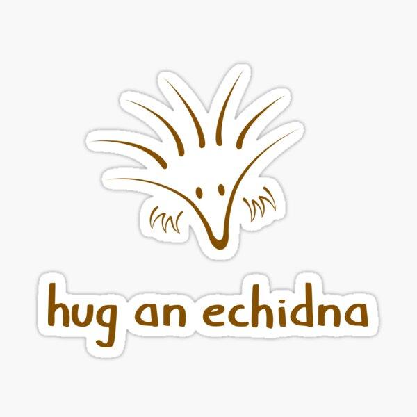 Hug An Echidna - two lof bees Sticker