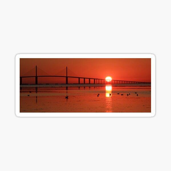 Sunshine Skyway sunrise Sticker