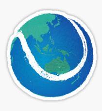 tennis tee Sticker
