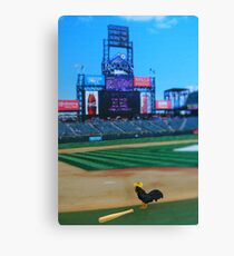 Randy was kicked off the team for hitting nothing but fowl balls….what the heck did they expect?!?!? Canvas Print