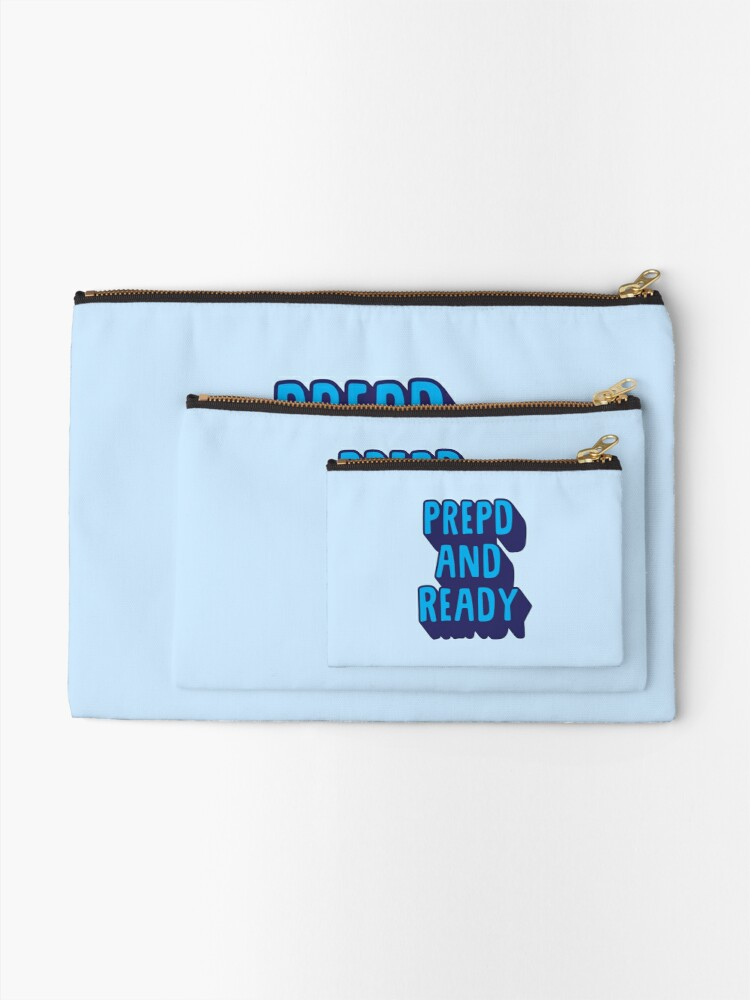 Alternate view of PrEP'D and Ready Zipper Pouch