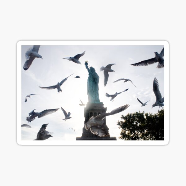 Statue of Liberty with Birds: NYC Sticker