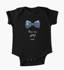 """Bow Ties ARE Cool."" - Dr. Who (image + quote) One Piece - Short Sleeve"