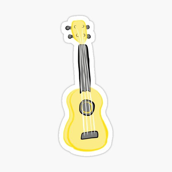 yellow ukulele 2.0 Sticker