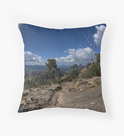 The Granite plateau Mount Buffalo  Throw Pillow