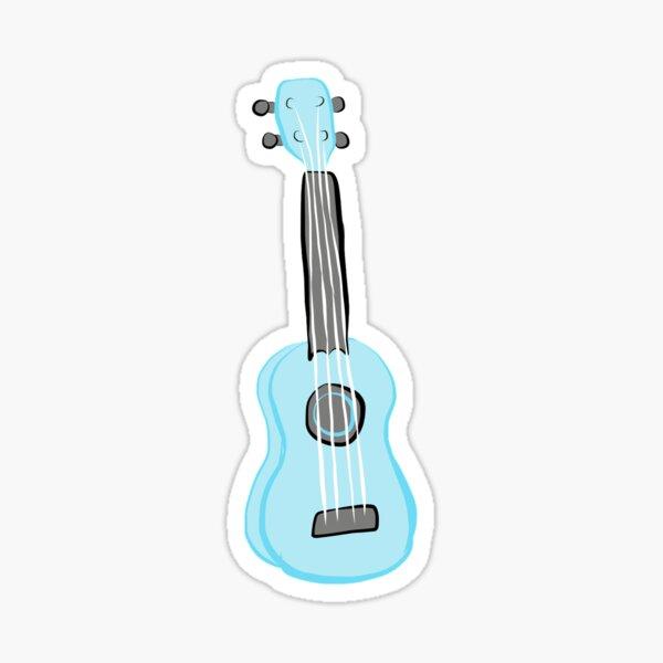 light blue ukulele Sticker