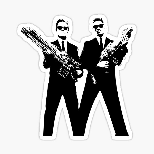 Men in Black Sticker