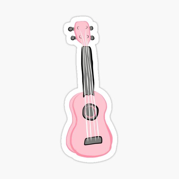 pink ukulele Sticker