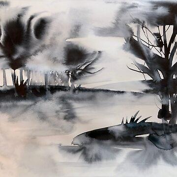 monochrome Landschaft von mariannat