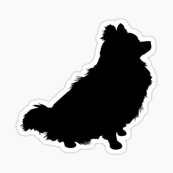 Pomeranian Silhouette Sticker