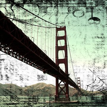 Vintage Green Golden Gate Bridge by stine1