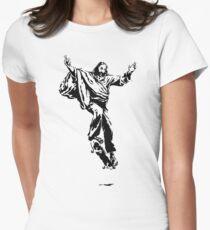 Ollie Christ (black on light tee) Women's Fitted T-Shirt