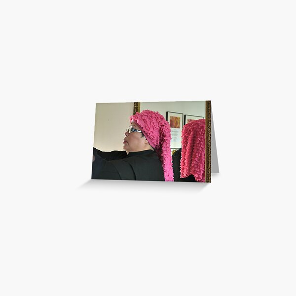 (552) Pink ruches (card) Greeting Card