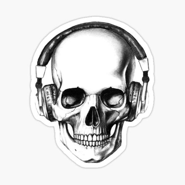 SKULL HEADPHONES Sticker