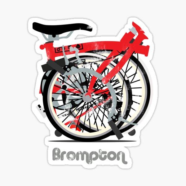 Brompton Bicycle Folded Sticker