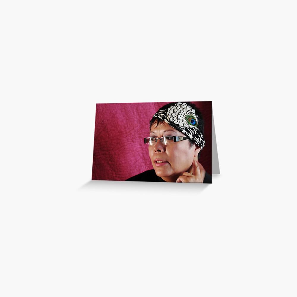 (535) Peacock turban (card) Greeting Card