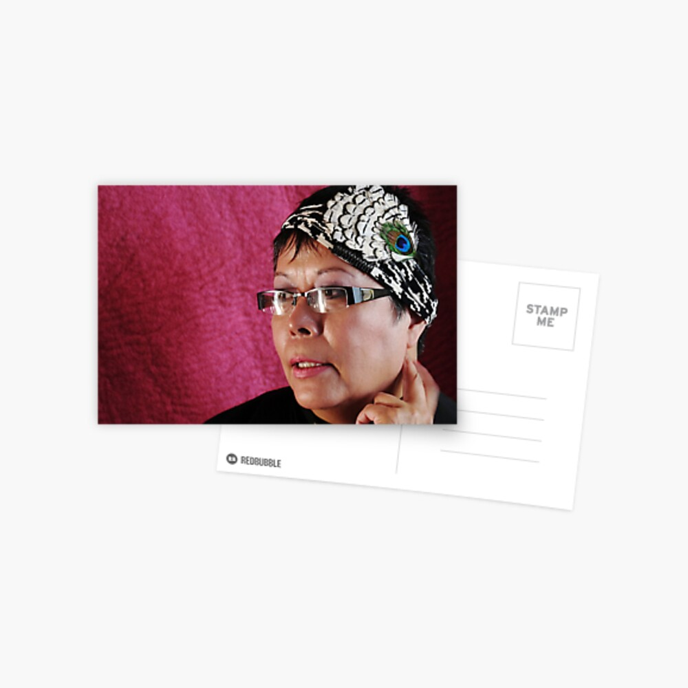 (535) Peacock turban (card) Postcard