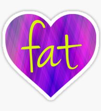 Love Fat (Purple and Yellow) Sticker