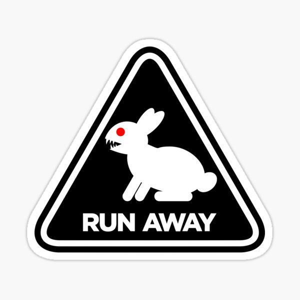 Killer Rabbit (Black) Sticker