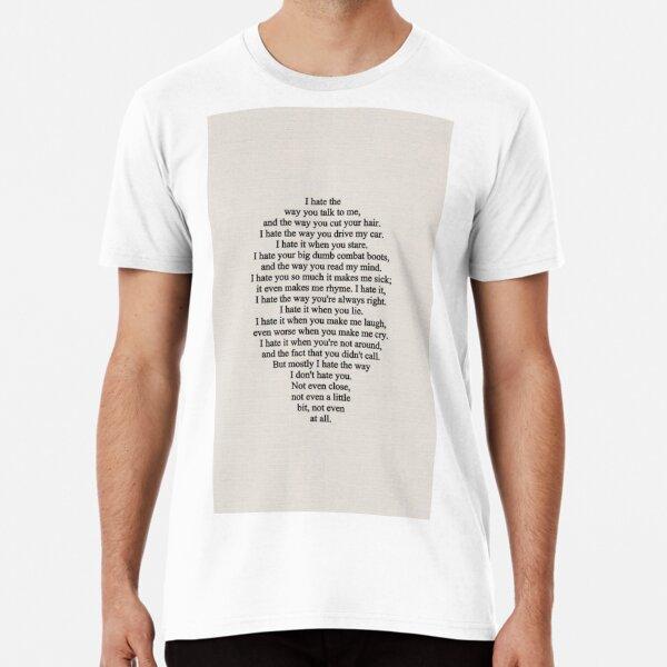 10 choses que je veux Dans Ma Vie T-Shirt