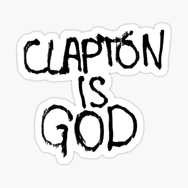 Clapton es Dios | Graffiti del metro de Londres Pegatina