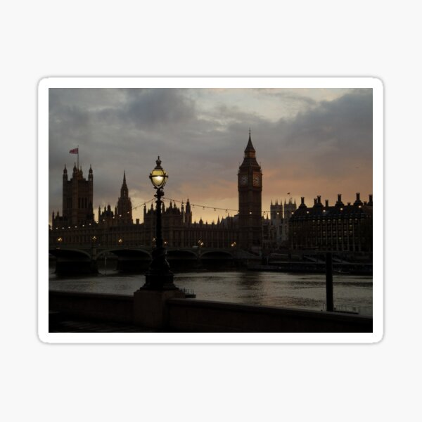 Westminster at Sunset (3) Sticker