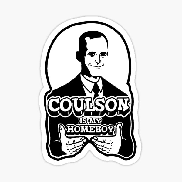 Coulson is My Homeboy (Outline) Sticker