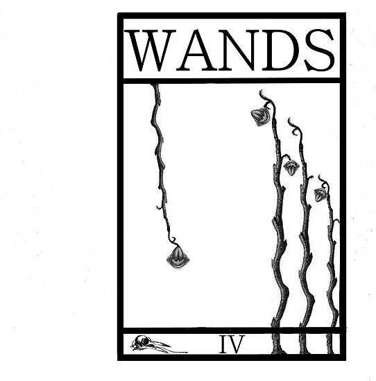 4 of Wands by Peter Simpson