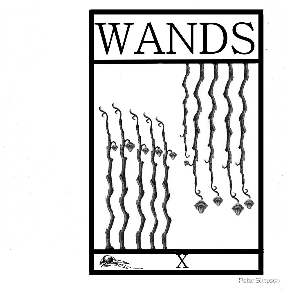 10 of Wands by Peter Simpson