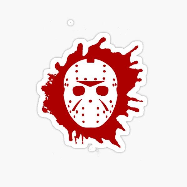 Bloody Jason Mask Sticker