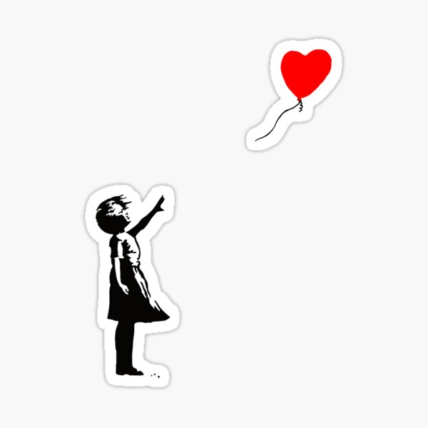 Banksy Balloon Sticker