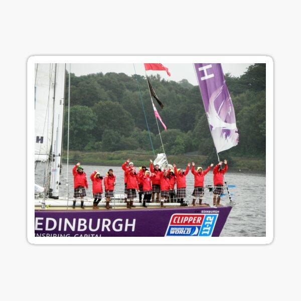 Edinburgh Round the world Clipper Crew Leaving Derry 07/07/2012 Sticker