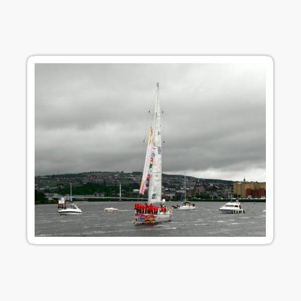 Derry Clipper Yacht - River Foyle Derry Ireland  Sticker
