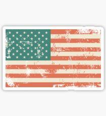 Pegatina Grungy bandera de Estados Unidos