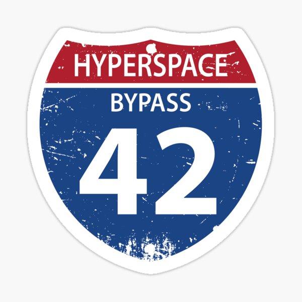 Hyperspace Bypass 42 Sticker
