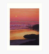 Yachats Sunset Art Print