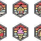Fast Food Aufkleber Set 01 von artlahdesigns