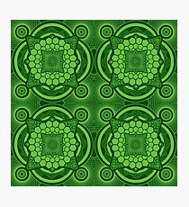 Green Mandala Pattern Photographic Print