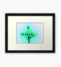 Hanukkah Candles in Blue Framed Print