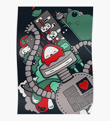 Robot Town Poster