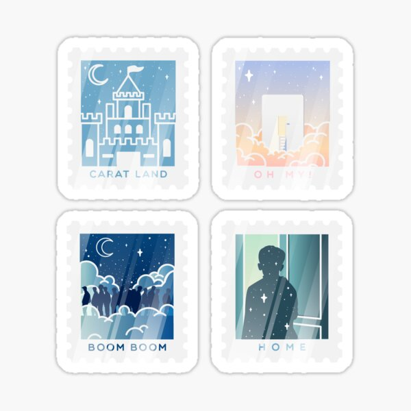 Seventeen Inspired Stamp Stickers Sticker