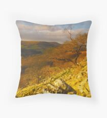 Hawnby Crag, Hawnby, North Yorkshire Moors Throw Pillow