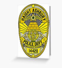 HAIGHT ASHBURY POLICE DEPT. SHIELD  Greeting Card