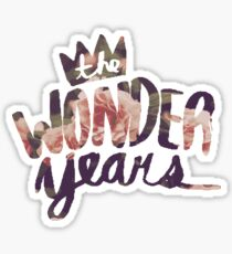 The Wonder Years floral logo  Sticker