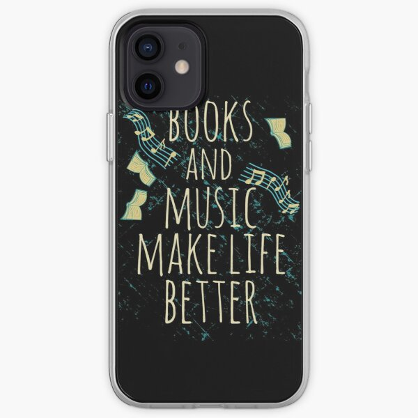books and music make life better #1 iPhone Soft Case