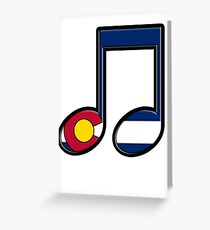 The Sound of Colorado is Music Greeting Card