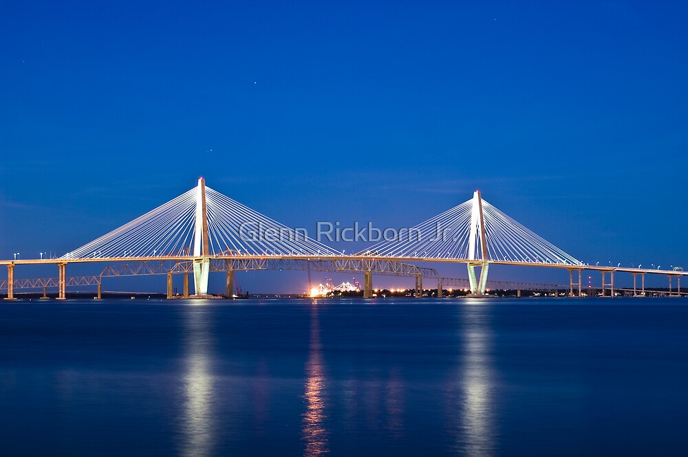 Bridges of The Cooper River - Charleston, S.C. by Glenn Rickborn Jr.