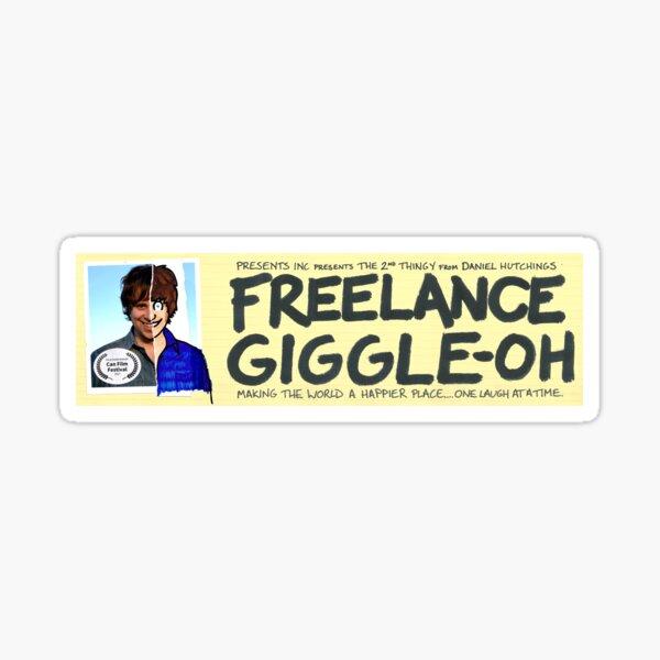 Freelance Giggle-oh - Bumper Sticker Sticker