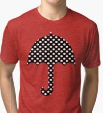 Black And White Polka Dots   Tri-blend T-Shirt