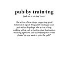 Dictionary definition of pubby training by loulabella